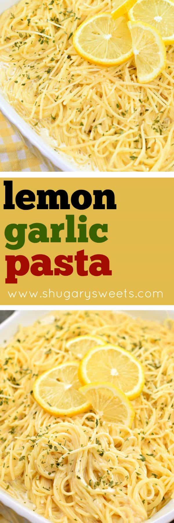 You'll love this tangy, Lemon Garlic Pasta as a side dish with your favorite chicken or fish! Or enjoy it as your main entree in under 30 minutes!