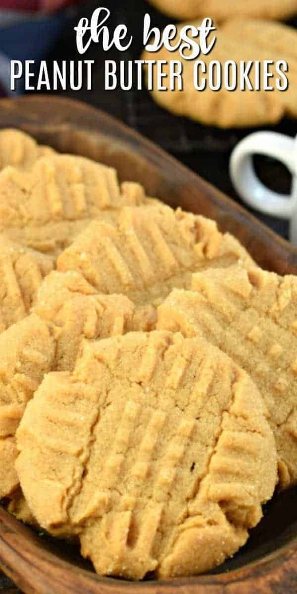 Perfect Peanut Butter Cookies. Soft and chewy, easy to make, and topped with a sweet sugar coating. You're going to love this delicious recipe!