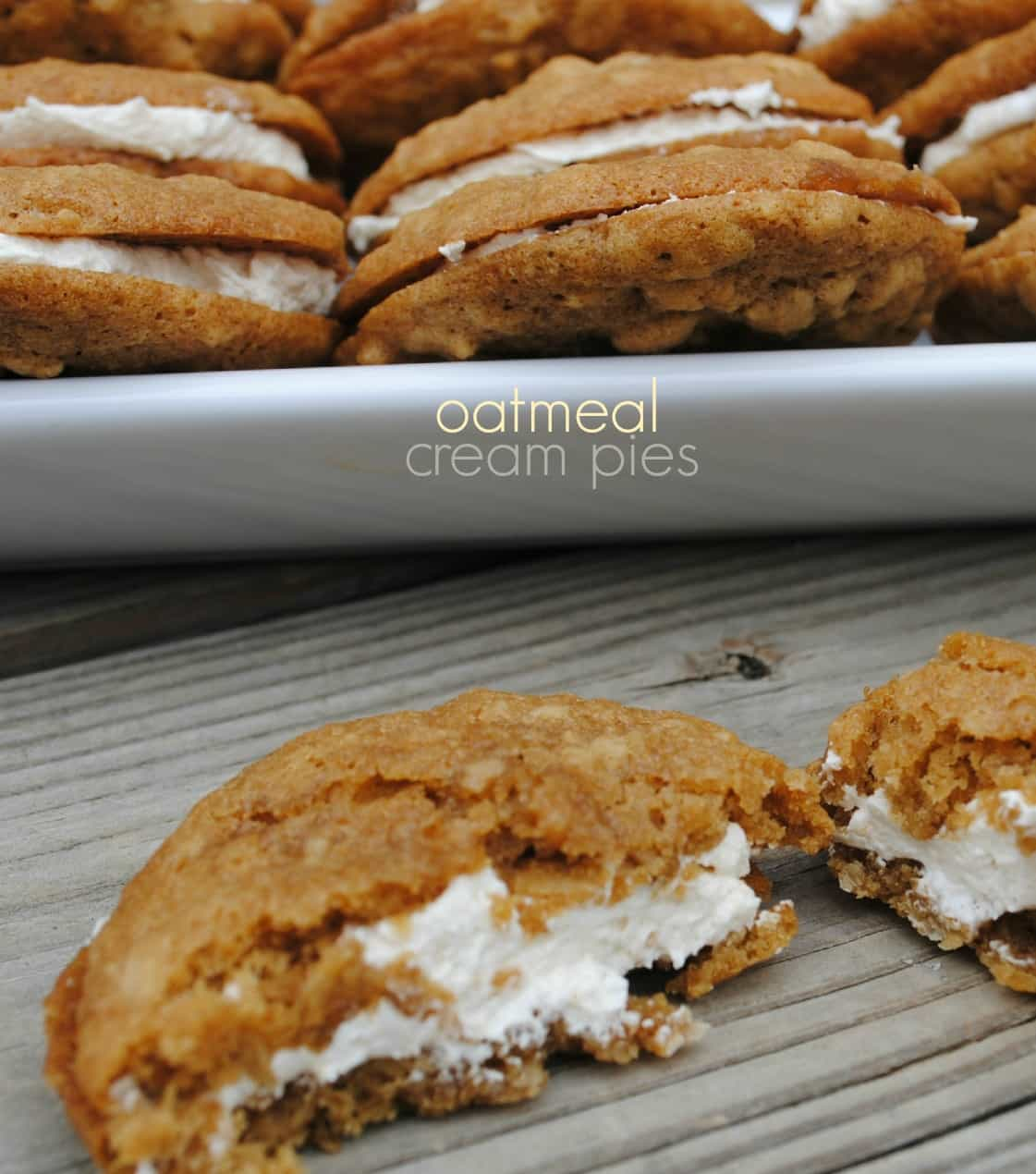 Oatmeal Cream Pie - Shugary Sweets