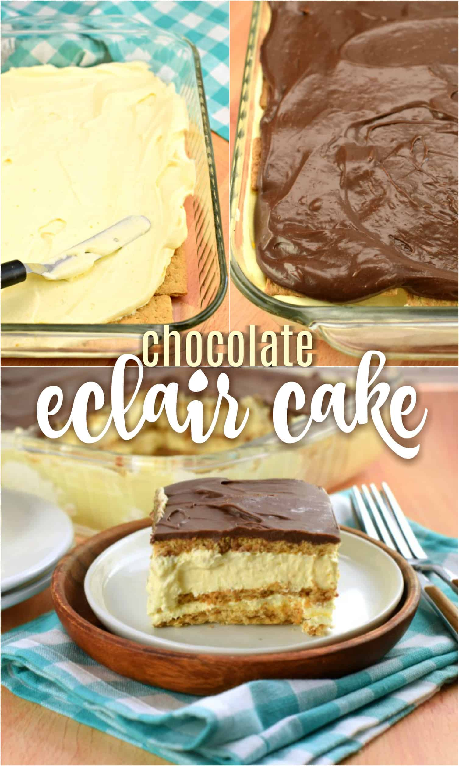 How to make chocolate eclair cake image