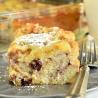 Dad's Bread Pudding Recipe with Lemon Sauce
