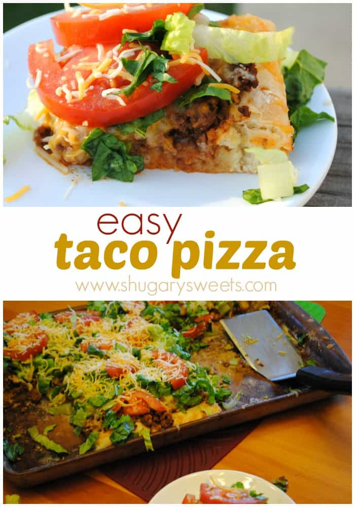 Easy Taco Pizza: make it at home and save some money!
