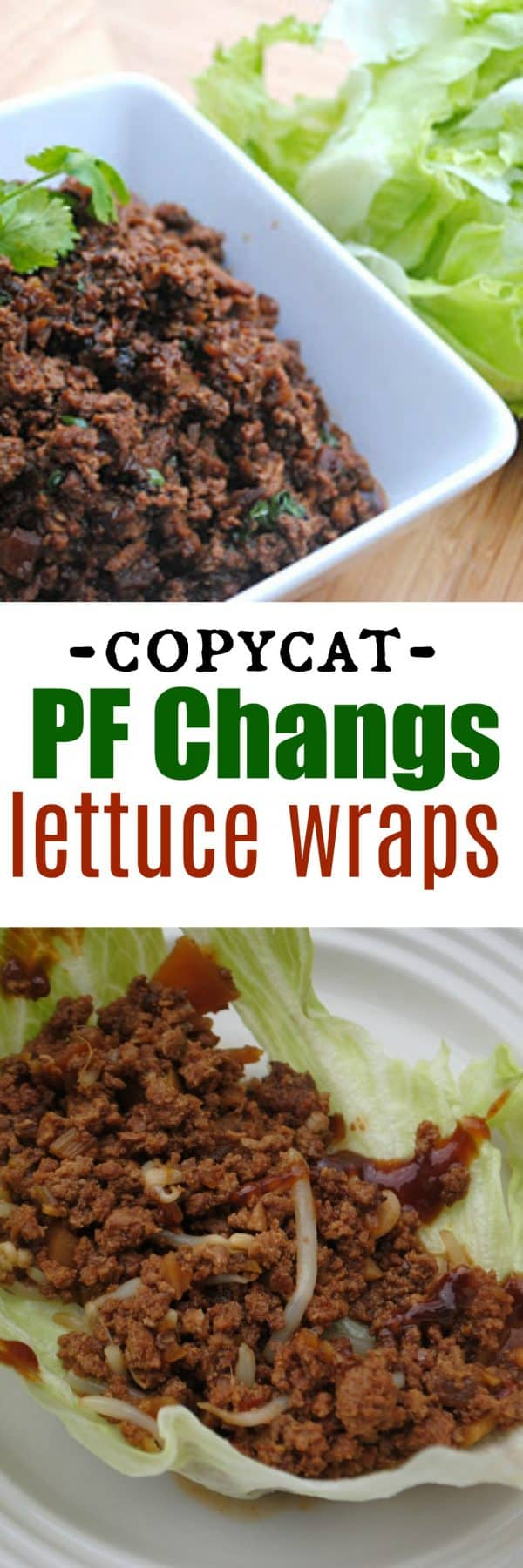 Copycat PF Changs Lettuce Wraps Recipe made in the Slow Cooker #crockpot #dinnerrecipes
