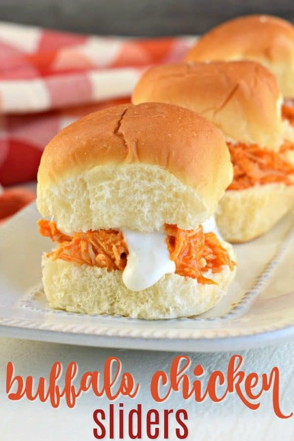 The Best Buffalo Chicken Sandwich Recipe with Homemade Blue Cheese Dressing. Tender buffalo chicken made in the slow cooker and served on a Hawaiian Roll.