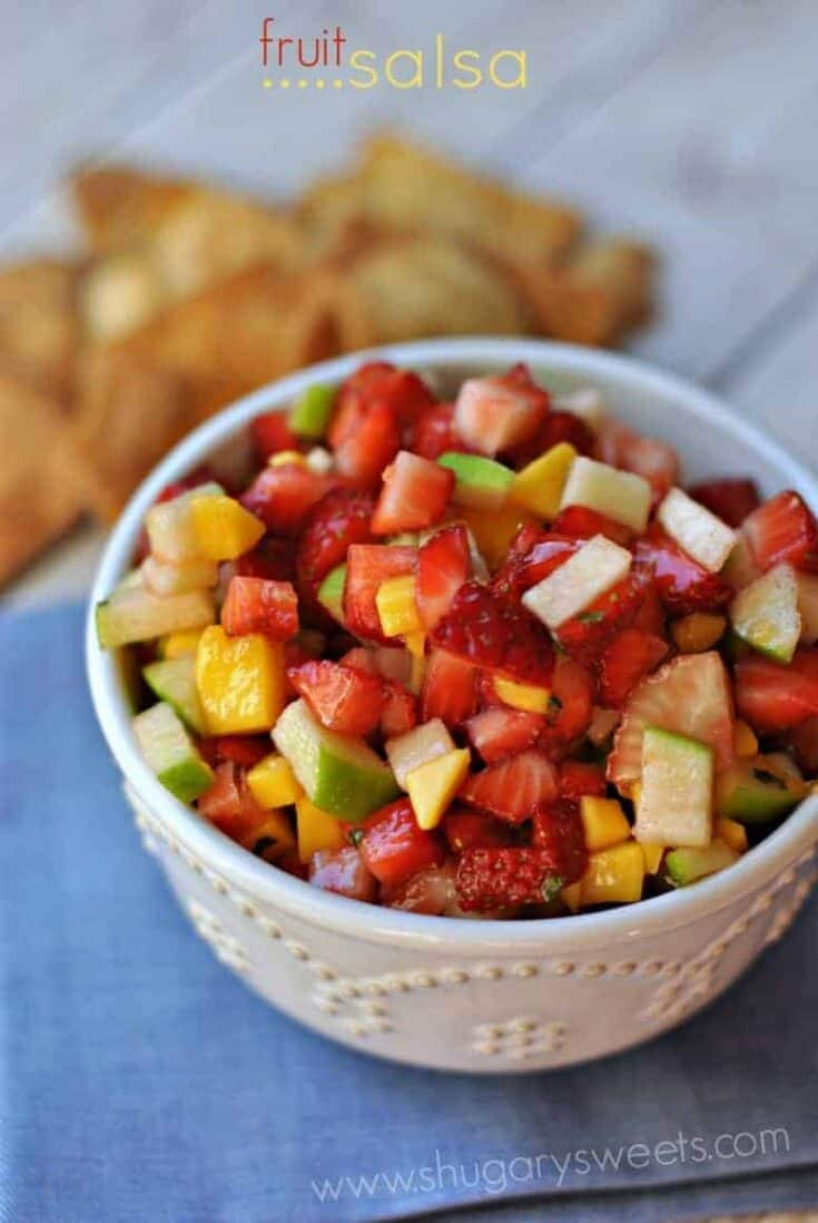 Easy, fruit salad recipe with a hint of ginger, mint and orange!