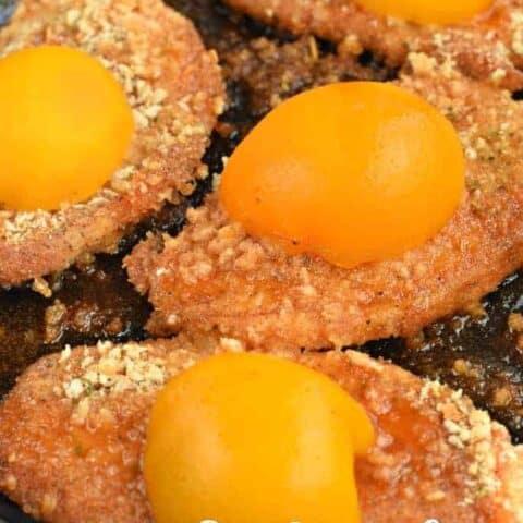 Breaded Pork Chops with Peach Glaze