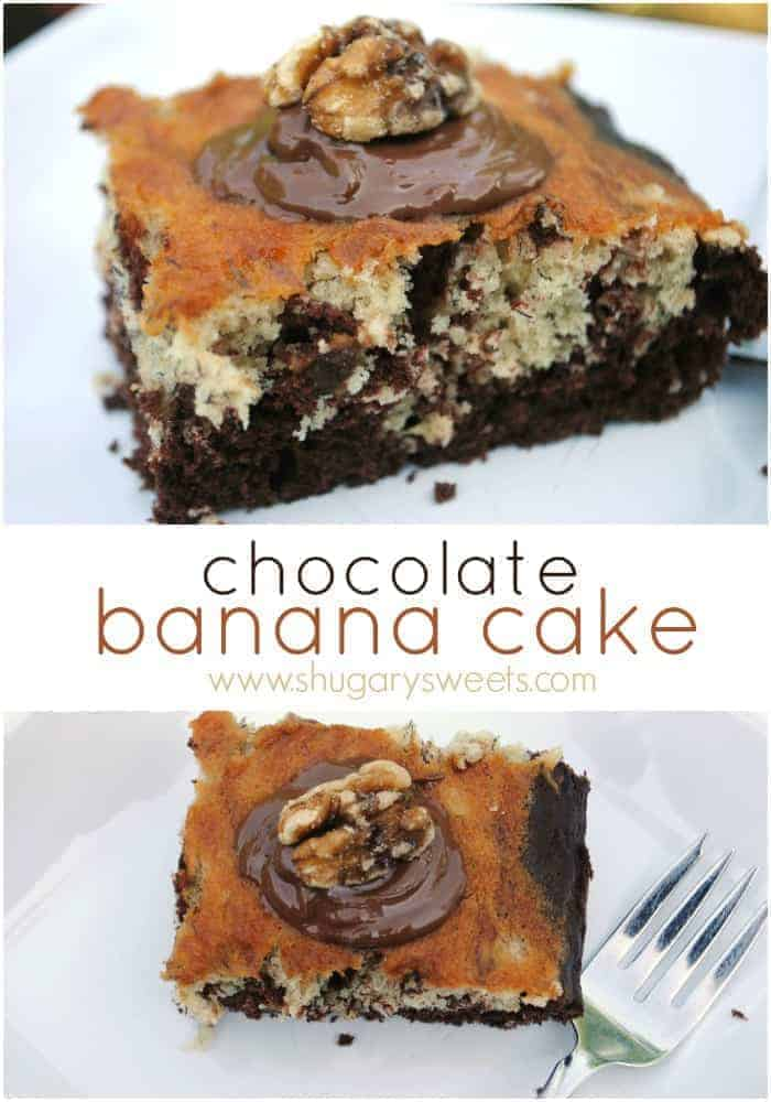 Chocolate banana snack cake recipe: makes a moist snack cake!