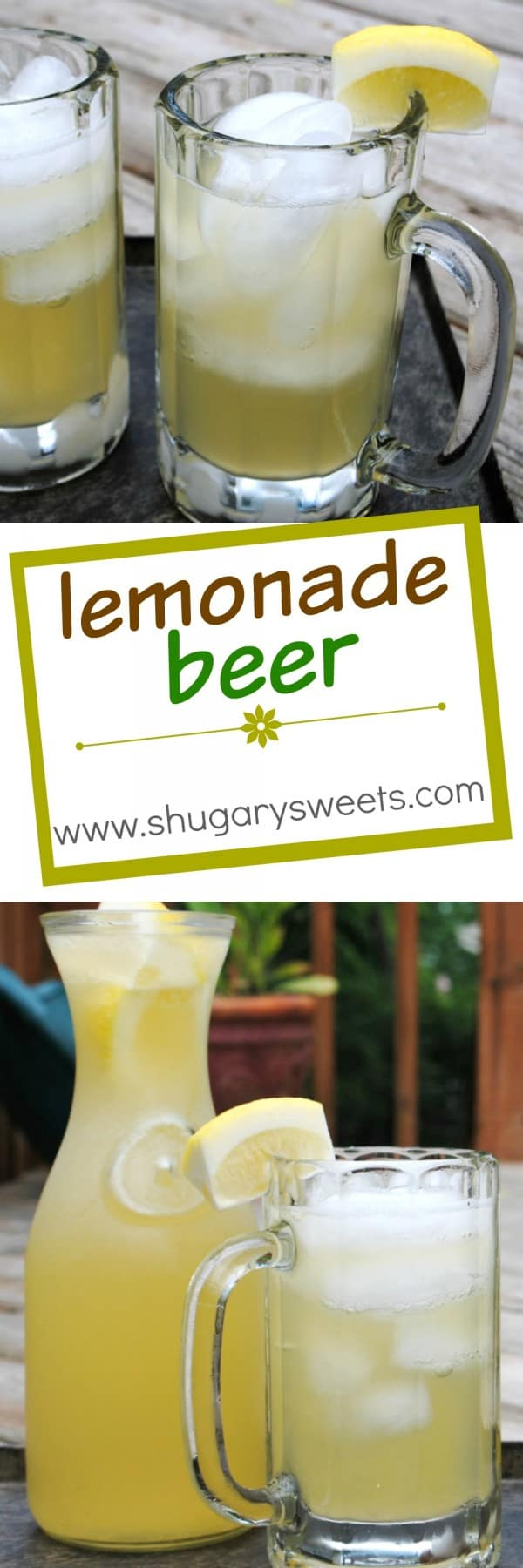 Lemonade Beer with cherry rum: easy and refreshing! summer cocktails anyone?