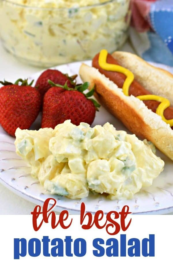 Potato Salad recipe made the old fashioned way with a few simple ingredients. One bite and you'll know why this classic dish is a hit at every holiday and potluck!