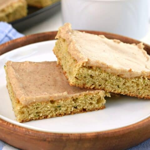Cinnamon Frosted Zucchini Bars