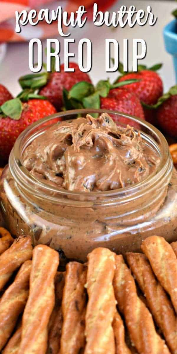 Oreo Peanut Butter Dip is an easy, creamy spread perfect for dessert or as an appetizer. Whip it up in minutes for your next party!