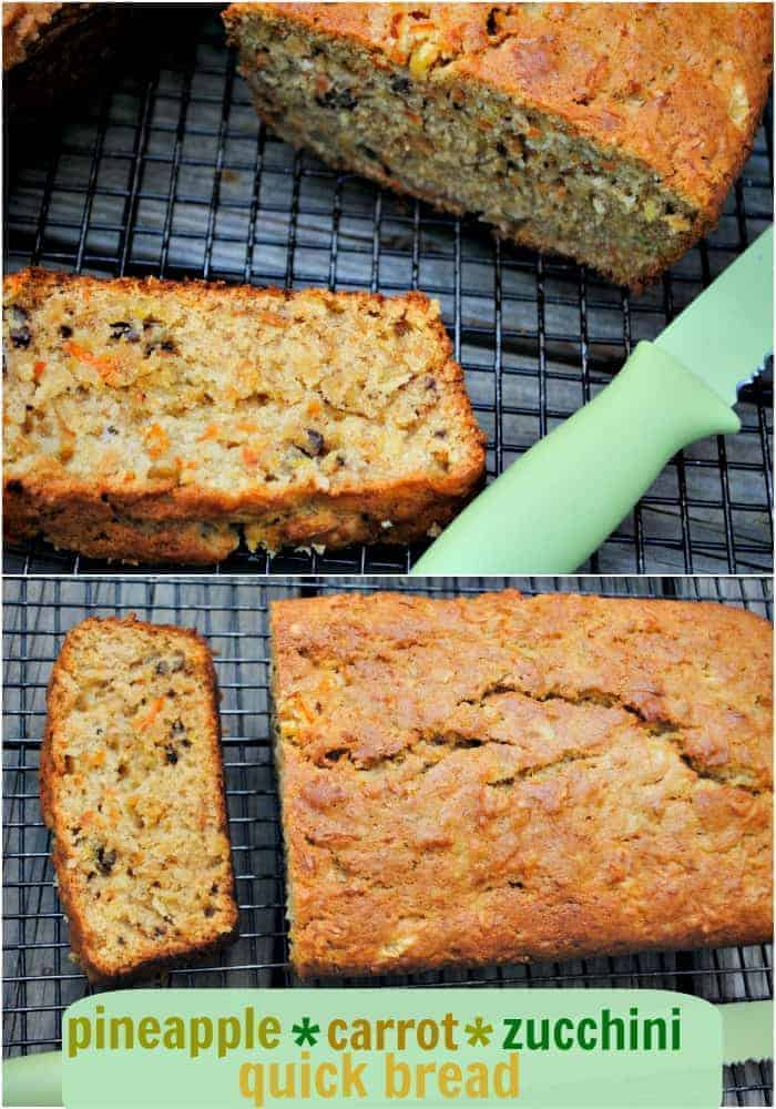 Pineapple carrot zucchini bread shugary sweets pineapple carrot zucchini quick bread recipekes two delicious loaves forumfinder Image collections