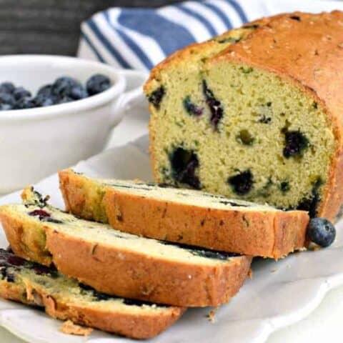 Zucchini Blueberry Bread
