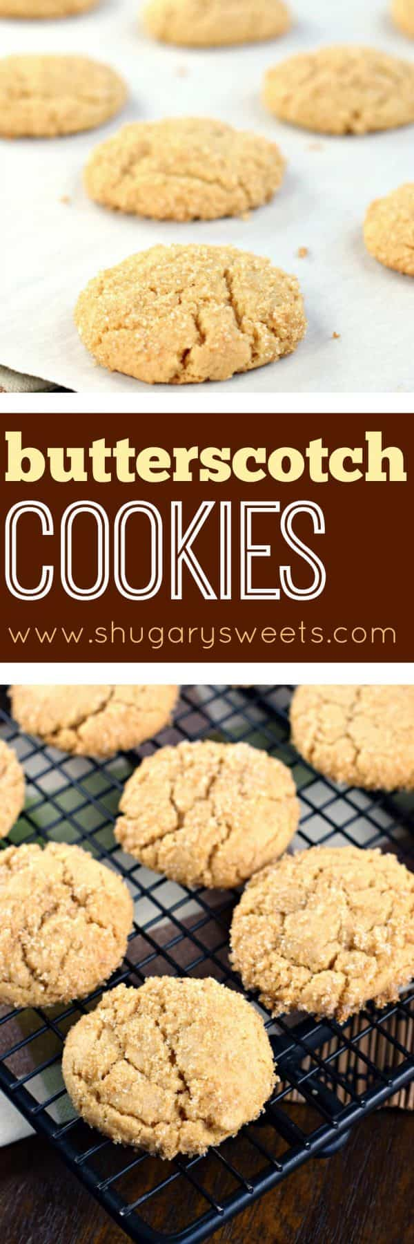 Chewy on the inside, crunchy on the outside, these Butterscotch Cookies only get better with time! You'll love the sugar coating!