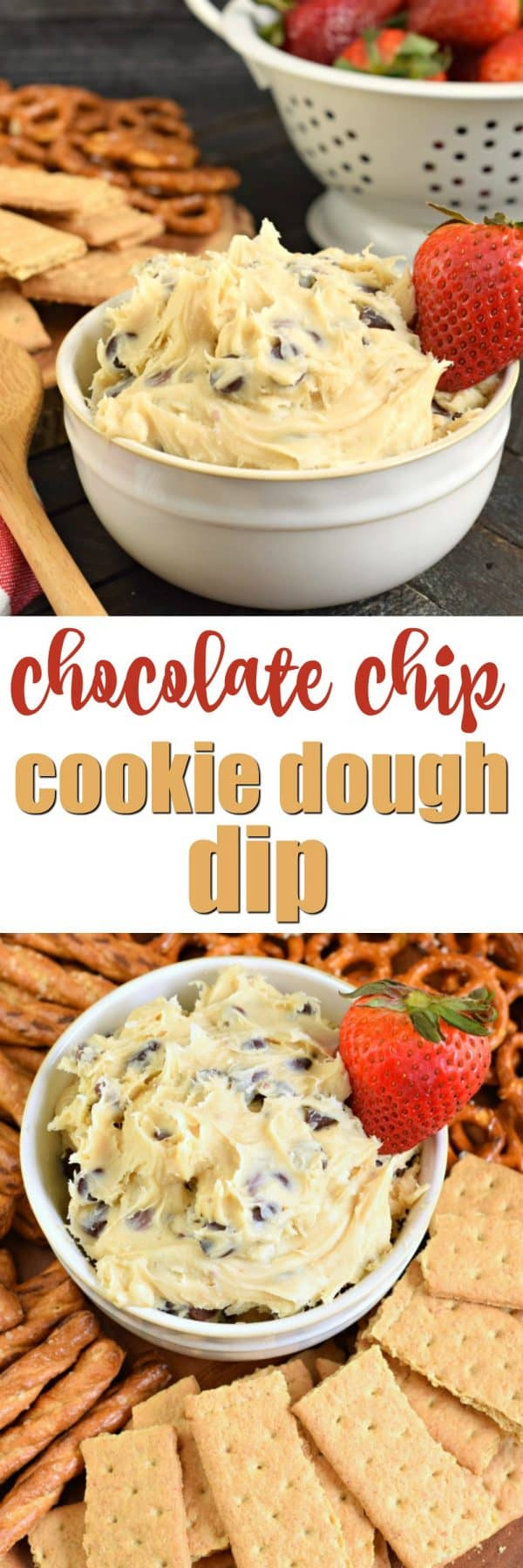 Easy 5 Minute Chocolate Chip Cookie Dough Dip Recipe