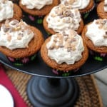 Pumpkin Cupcakes with Maple and Toffee Frosting