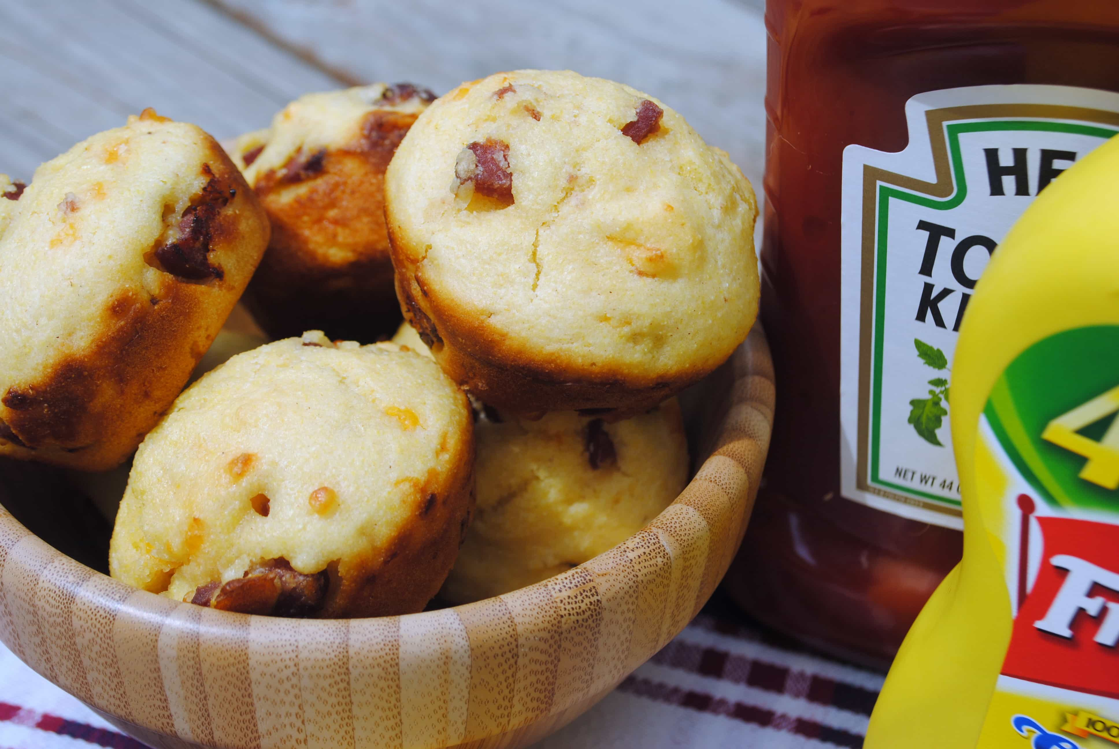 Corn Dog Muffins: from scratch corn muffins with hot dogs inside! Kid ...