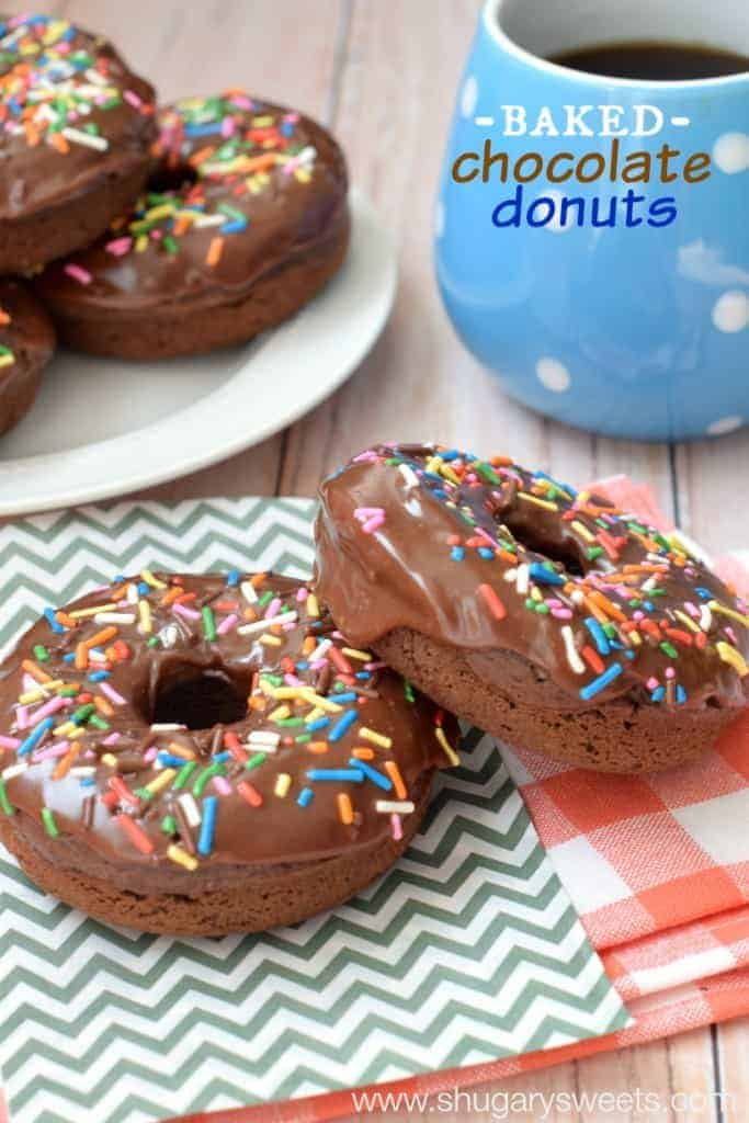 Baked Chocolate Donuts: you'll have these on the breakfast table in under 30 minutes!