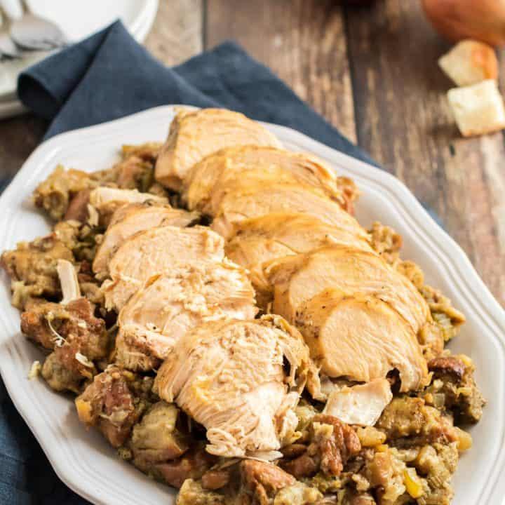 Crockpot Turkey Breast and Stuffing