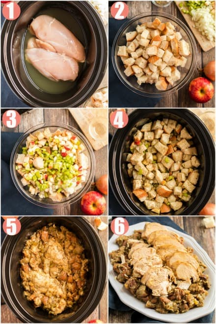 How to make crockpot turkey breast and stuffing in step by step photos.