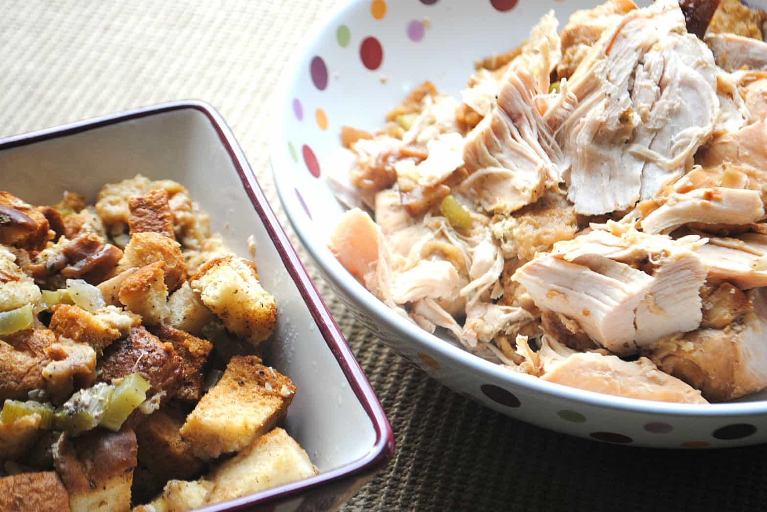 Crockpot turkey breast stuffing
