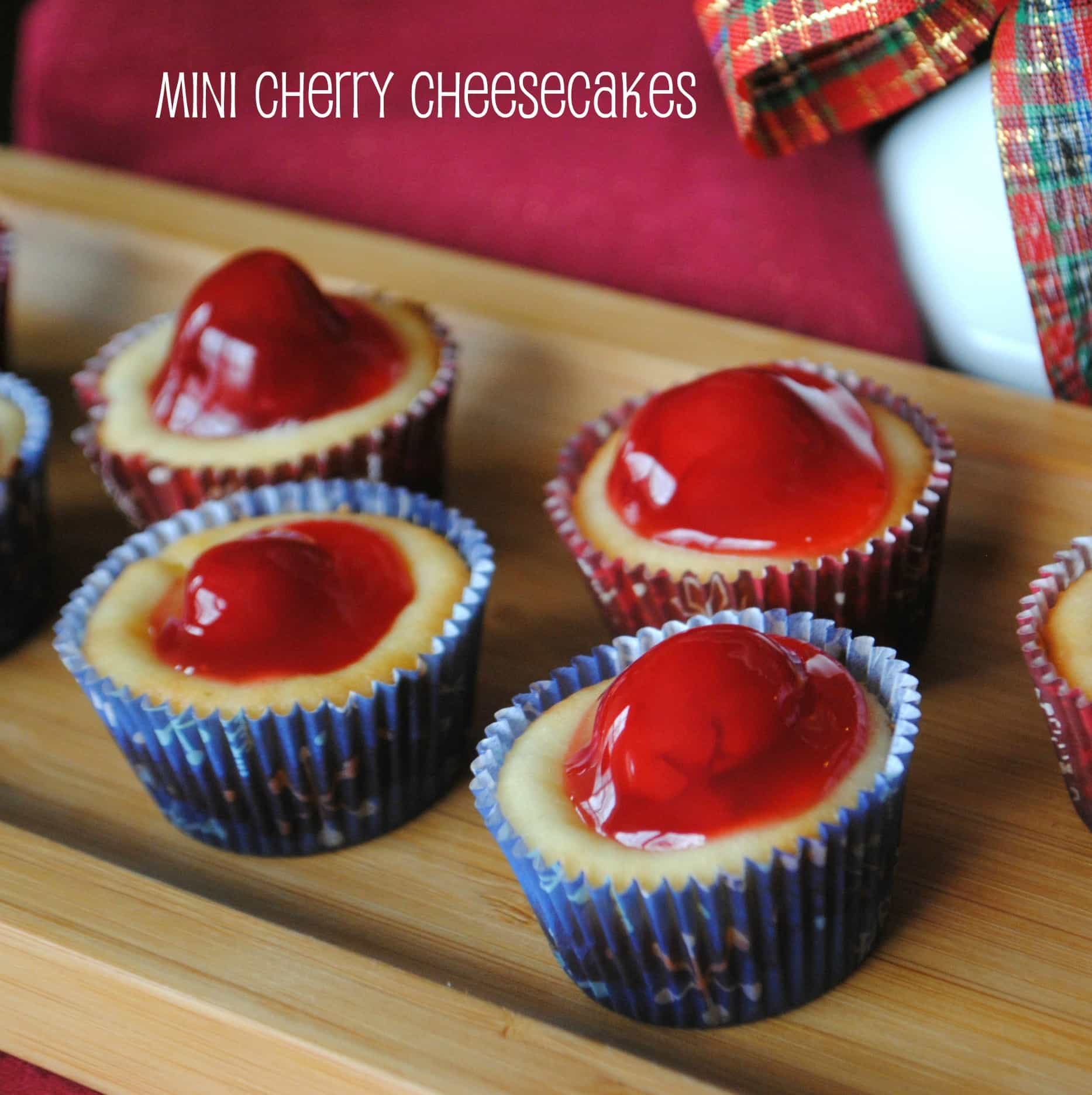 Mini Cherry Cheesecakes - Shugary Sweets