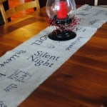 Homemade Burlap table runner...easy to make and a great gift idea too!