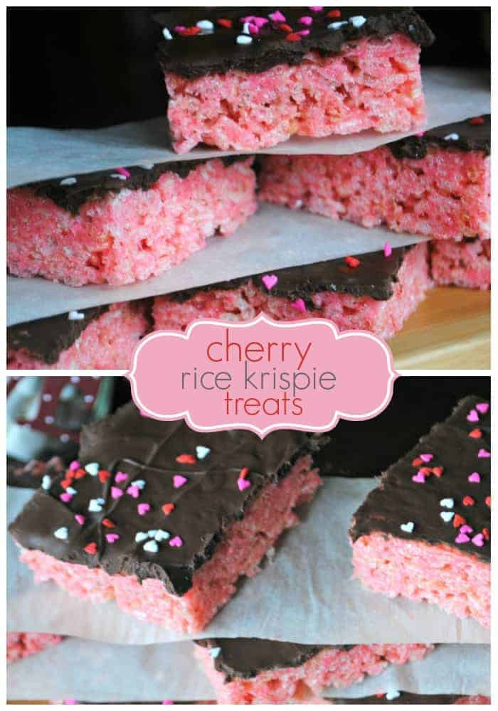 Delicious recipe for cherry Rice Krispie Treats