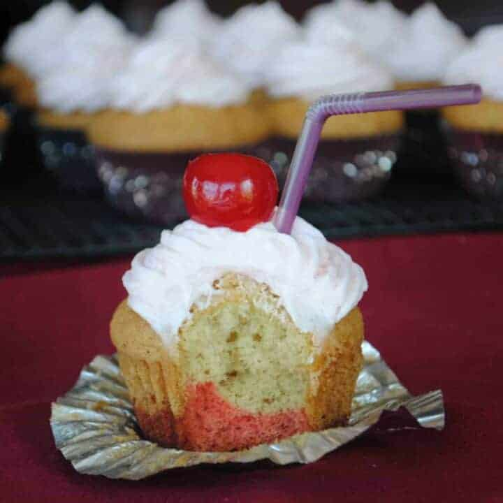 Kiddie Cocktail Cupcakes