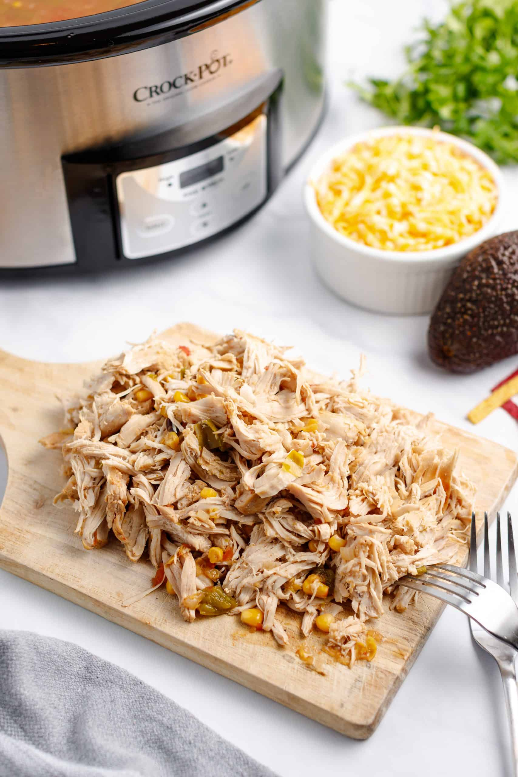 Shredded turkey breast for turkey taco soup