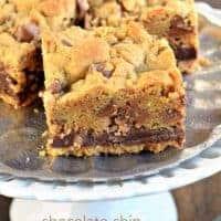 Chocolate Chip Toffee Fudge Cookie Bars
