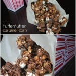 Fluffernutter Caramel Corn: homemade caramel corn with Reese
