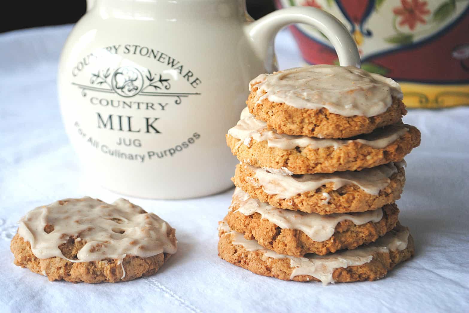 Iced Oatmeal Cookies - Shugary Sweets