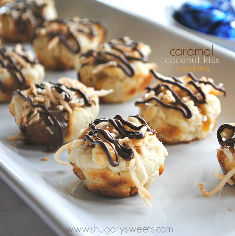 Caramel Coconut Kiss Cookies...copycat of the girl scout samoas
