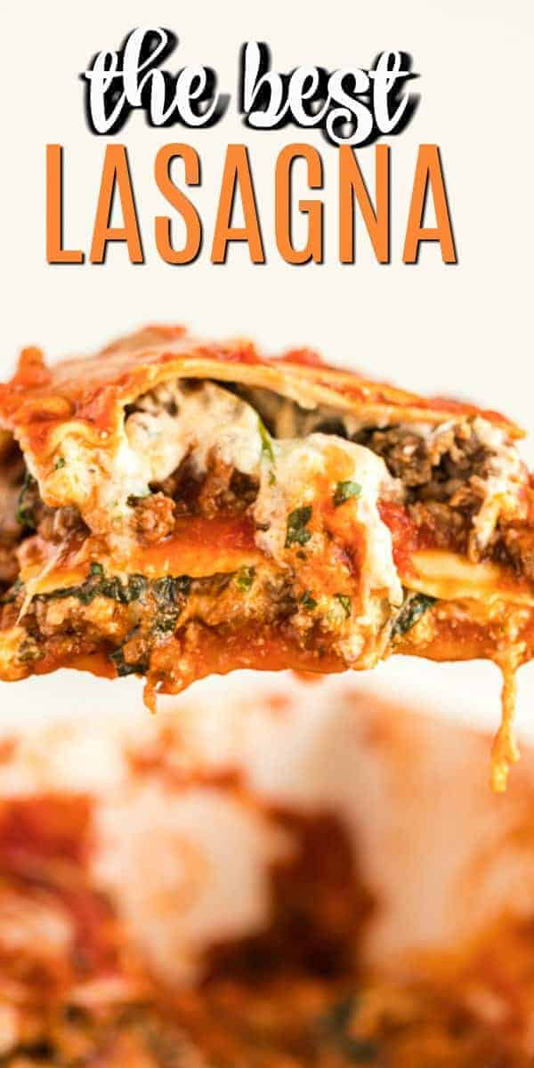 Hearty, flavorful Spinach and Meat Lasagna Recipe. Easy and delicious, your family is going to love this pasta dinner!