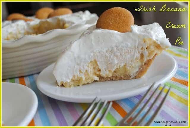 Sweet and boozy, this Irish banana cream Pie is amazing!
