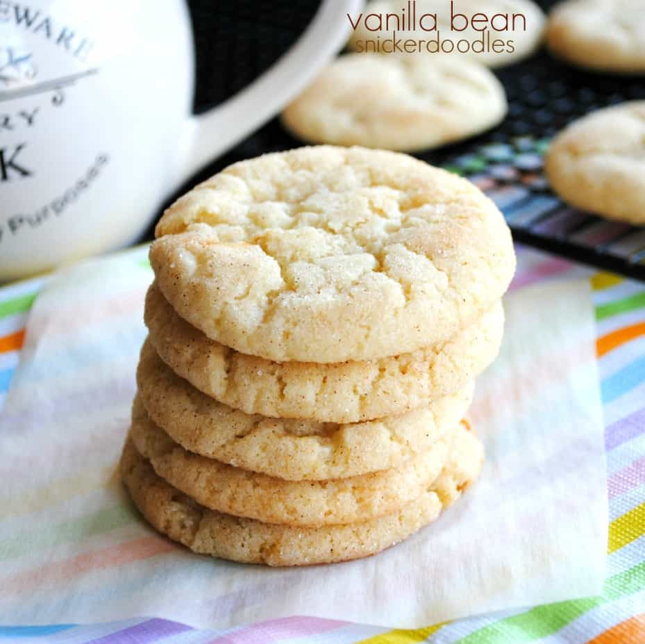 Chewy and soft, Vanilla Bean Snickerdoodle Cookies