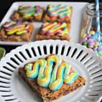 Rainbow M&M'S Cookie Bars