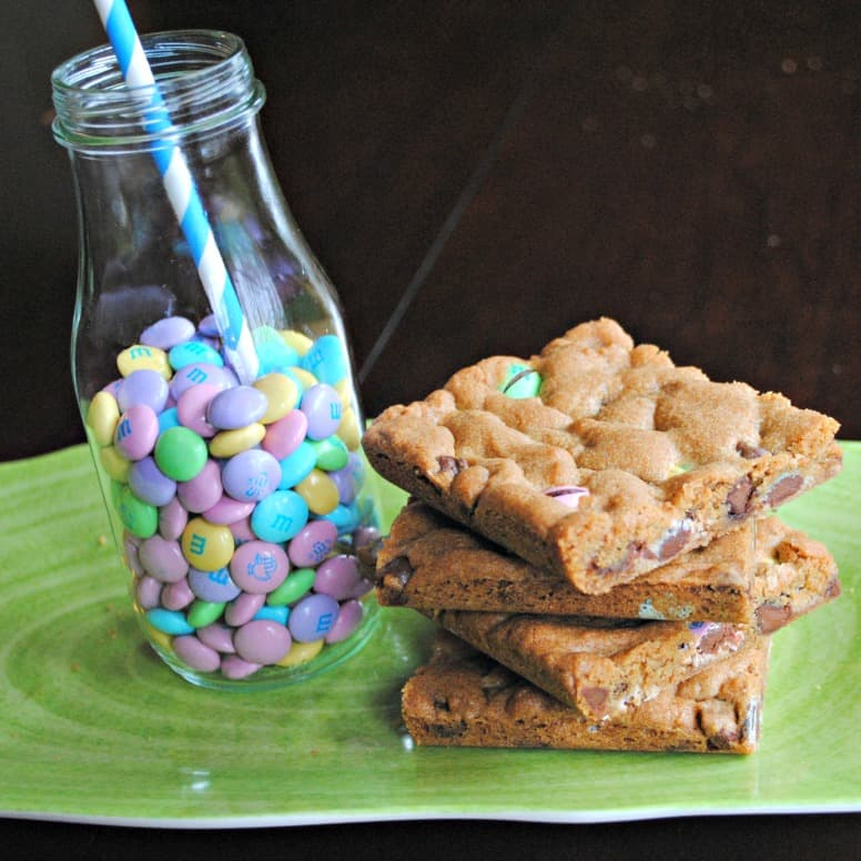 Unfrosted m&m Cookie Bars