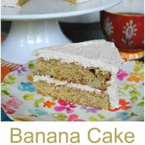 Banana Cake with Cinnamon Buttercream Frosting