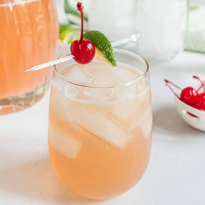 Cherry margarita with beer.