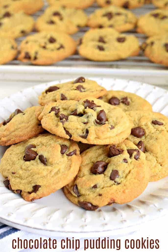 This soft and chewy Chocolate Chip Pudding Cookies recipe is my new favorite, go-to cookie treat. You'll love how easy it is to make, everyone else will love how amazing they taste!