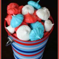 4th of July Meringue Cookies