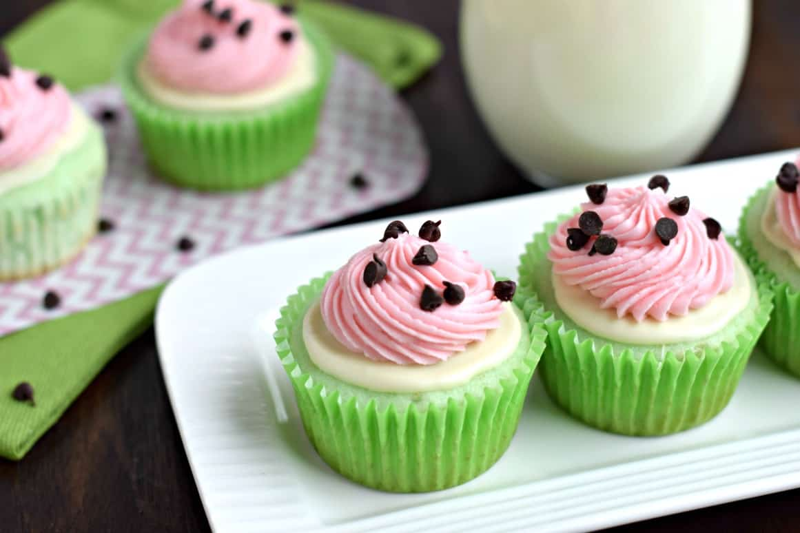 Easy Watermelon Cupcakes