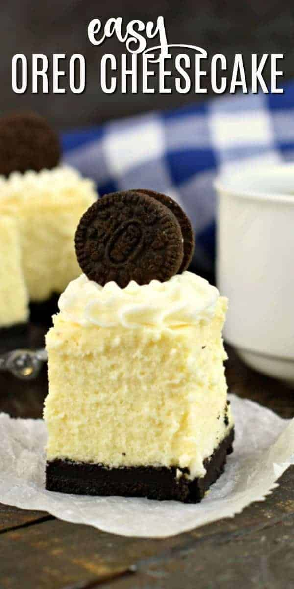 Mini Oreo Cheesecake Bites are a delicious and easy dessert recipe. These cheesecake bites combine the taste of Oreo cookies and rich, creamy cheesecake all in one yummy bite!