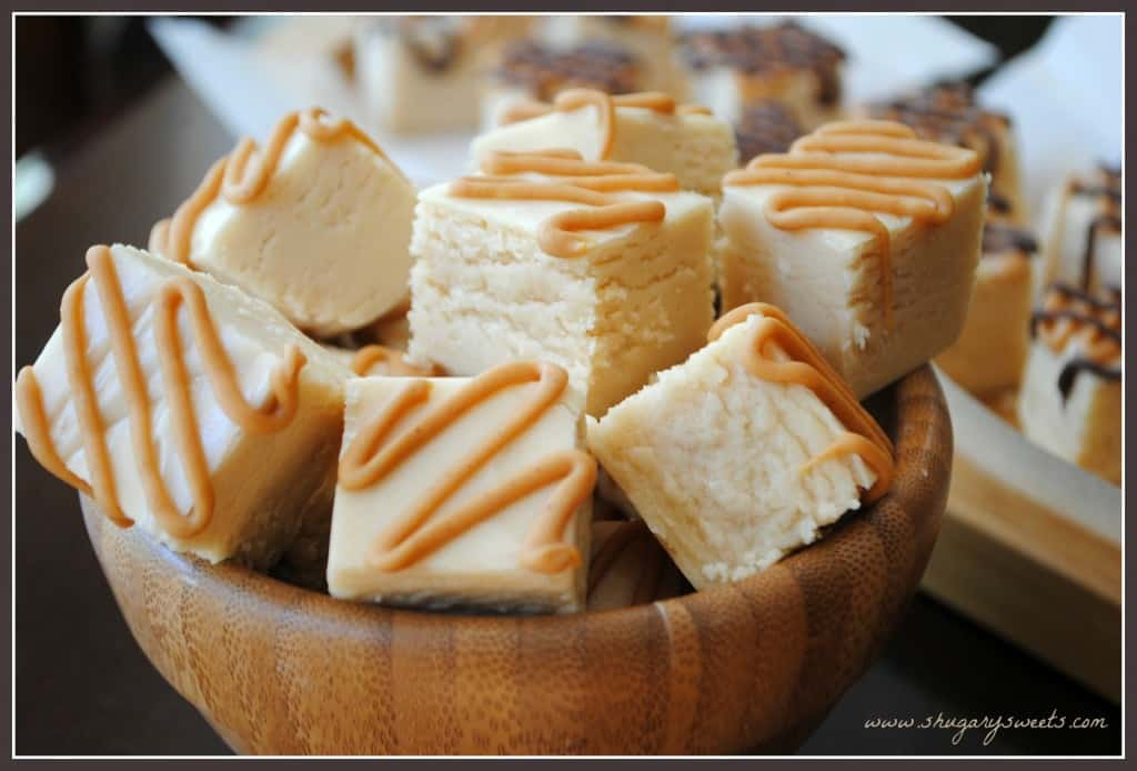 Peanut Butter Fudge with a peanut butter drizzle! So delicious and soft.