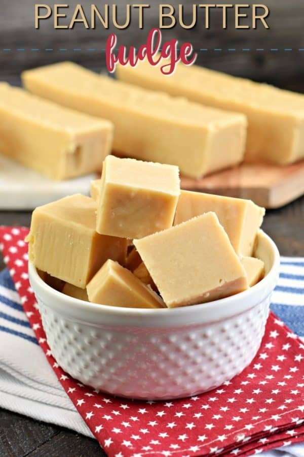 The Best Peanut Butter Fudge recipe with no candy thermometer needed. Soft and creamy and packed with peanut butter flavor, this easy fudge recipe is perfect all year long!