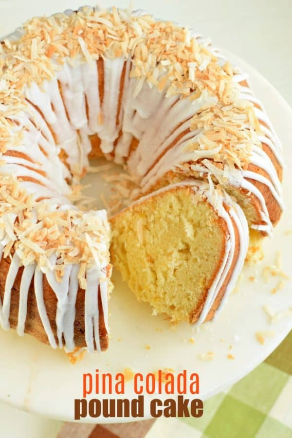Pineapple Pound Cake with Coconut Glaze