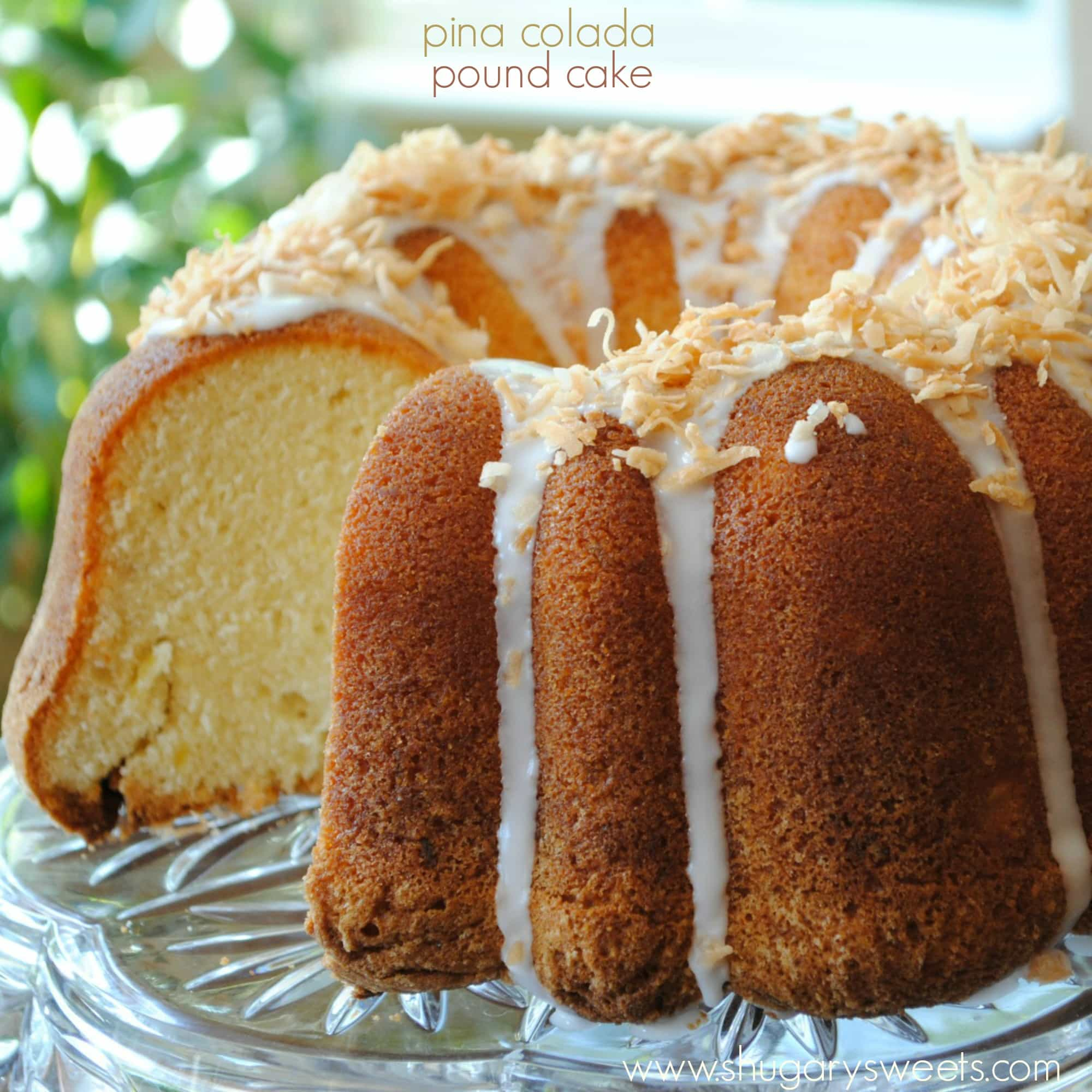 Pina Colada Glazed Pound Cake Recipe