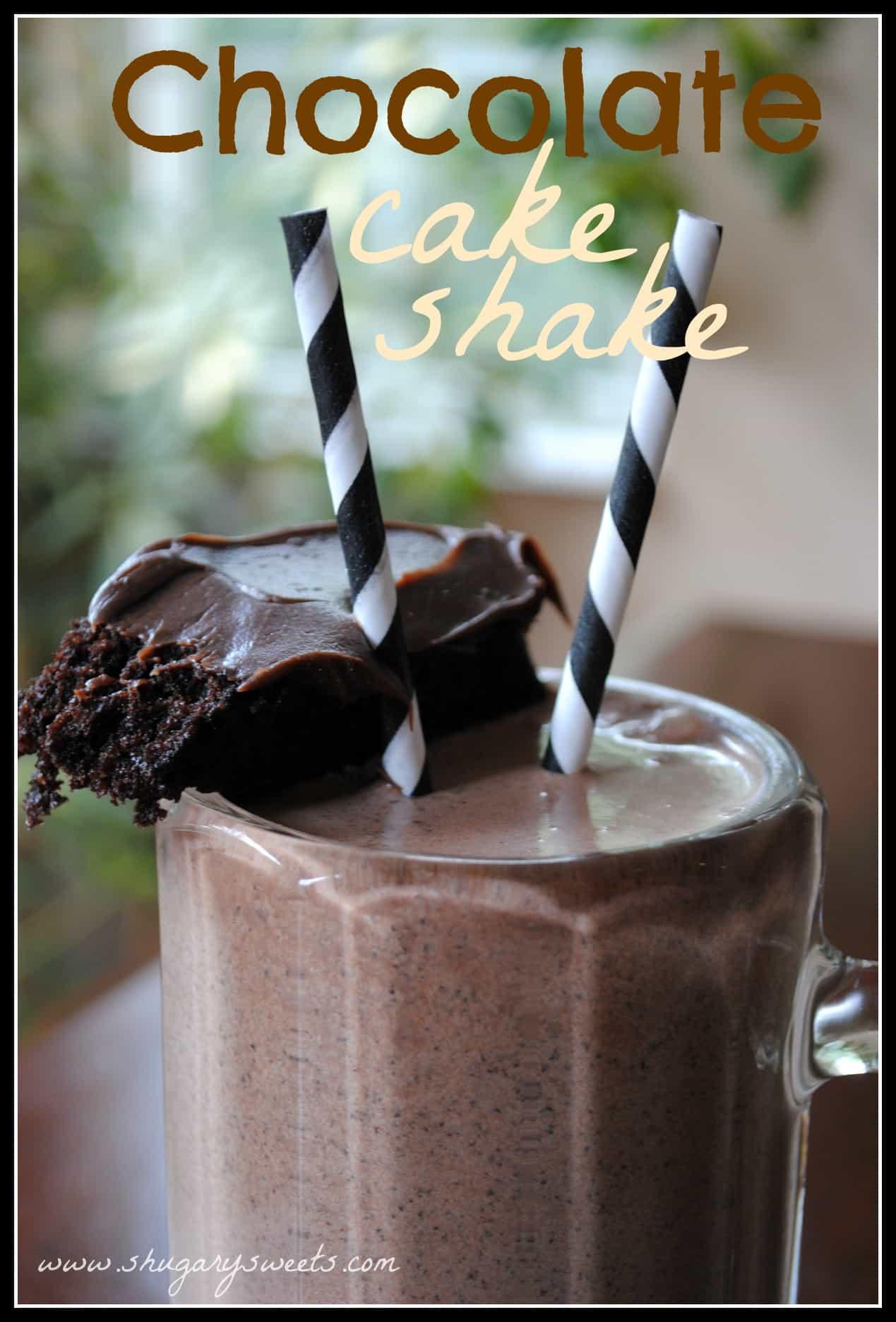 Chocolate Cake Shake - Shugary Sweets